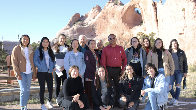students at window rock